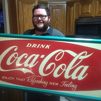 Coca Cola tin sign 1962 - Coca-Cola
