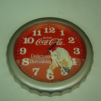 1994 Coca Cola Bottle Cap Clock - Coca-Cola