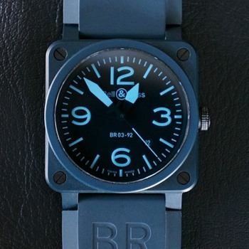 Bell &amp; Ross BR 03-92 Blue Ceramic and Compass Watches