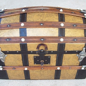 Unusual large Antique Doll Trunk
