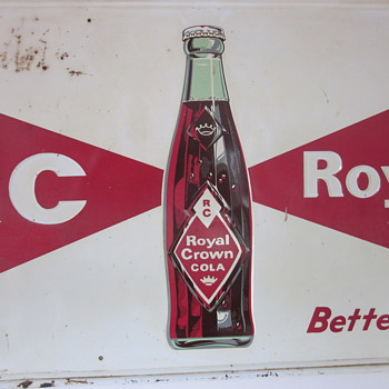 RC Royal Crown Cola Tin Sign...Embossed