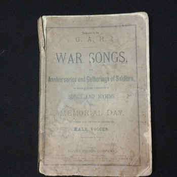 these are 2 song books 1 from the late 1800s and the other from the early 1900s - Music