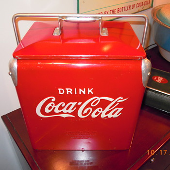 1958 Coca-Cola Picnic Cooler - Acton Jr. - Coca-Cola