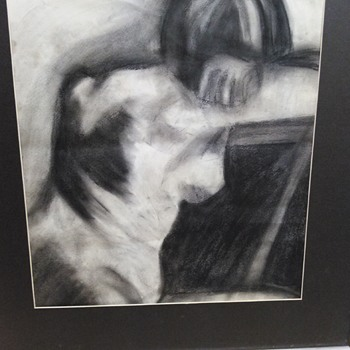 CHARCOAL NUDE DRAWING - Visual Art