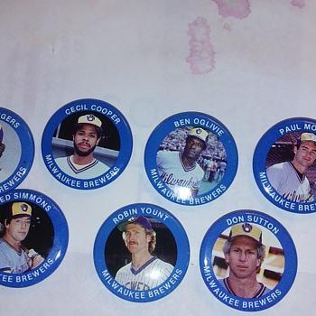 Milwaukee Brewers pins 1984 - Baseball