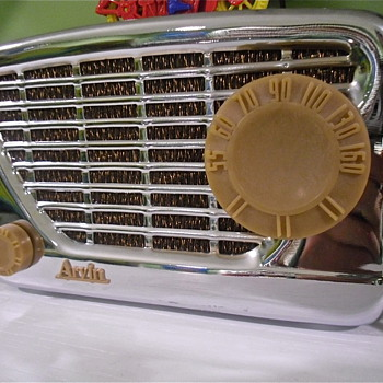 Arvin 1947 Chrome Tabletop Tube Radio - Radios