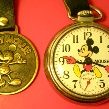 1975 Bradley Mickey Pocket watch and fob