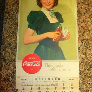 1939 Coca-Cola calendar - Coca-Cola