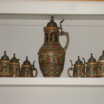 German Beer Mugs inherited from Mom - Breweriana