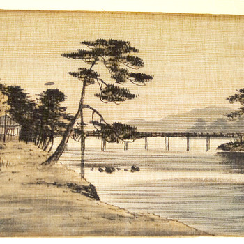 Primative Chinese print on cloth 1880s? - Asian