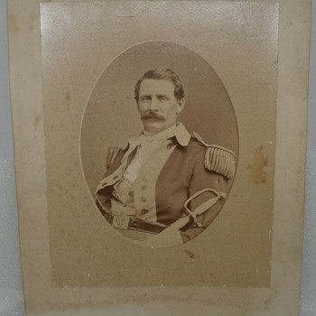 Brady Mount Civil War Officer Soldier Uniform Photograph Picture Vintage