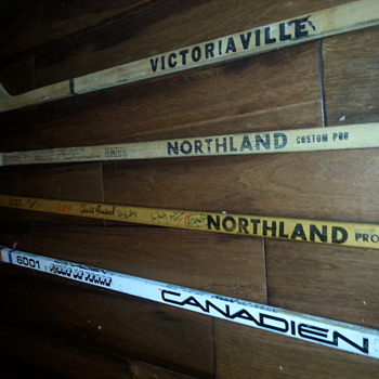 Signed 1968–69 NHL season hockey stick - over 20 signatures. One Of A Kind.