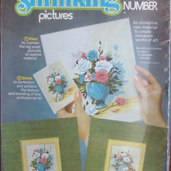 Paint by number Shrinky Dinks - Posters and Prints