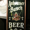 anheuser busch pre pro reverse glass corner sign