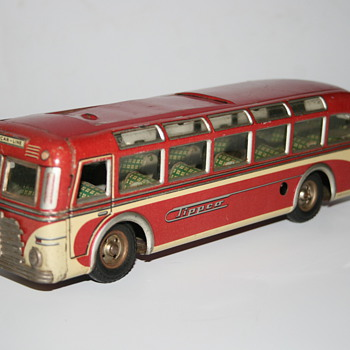 tippco clockwork touring coach bus tin toy - Model Cars
