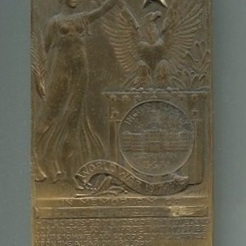 Ingham County, MI,  WWI Named Death Plaque