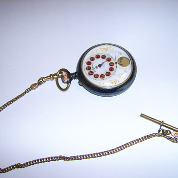 RARE BREVET PICTURE POCKET WATCH  PRESIDENTS PIC ON FRONT ON BACK - Pocket Watches