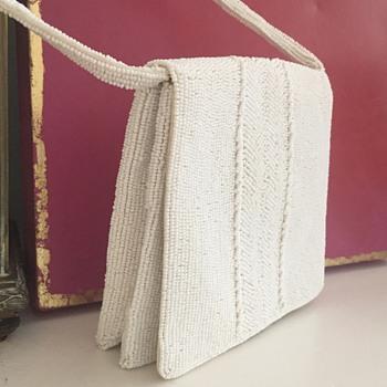 Pretty Little White Walborg Hand-Beaded bag - Bags