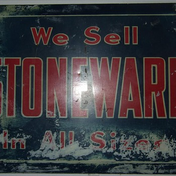 We sell stoneware in all sizes. - Advertising