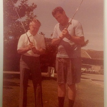 TED WILLIAMS AT DALLAS COUNTRY CLUB - Baseball
