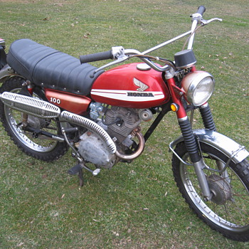 1970 K0 Honda CL100 Scrambler first year - Motorcycles