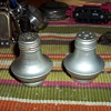 ALUMINUM SALT AND PEPPER SHAKERS