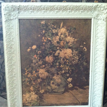 Floral print painted ornate frame - Posters and Prints