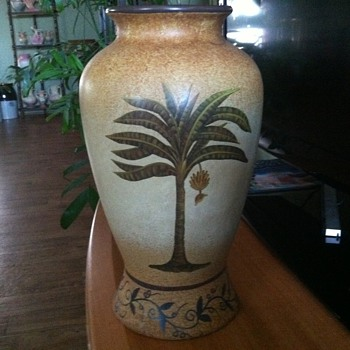 Wall pocket urn vase - Art Pottery