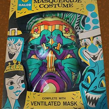 """Quite Rare 1960s HALCO """"Psychedelic"""" Halloween Costume"""