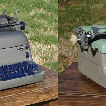 1950s Royal FP Typewriter & Royal RE Electric Typewriter - Office