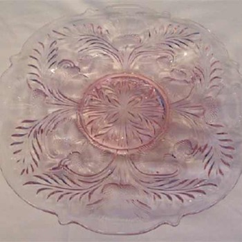 Mosser Rose Pink Inverted Thistle Deviled Egg Plate - Glassware
