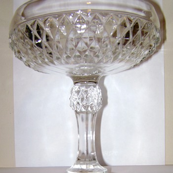 Diamond Point Candy Dish - Glassware