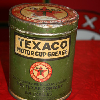 texaco grease can