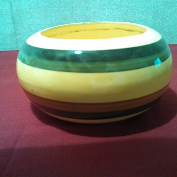 Multi-Banded Ceramic Bowl