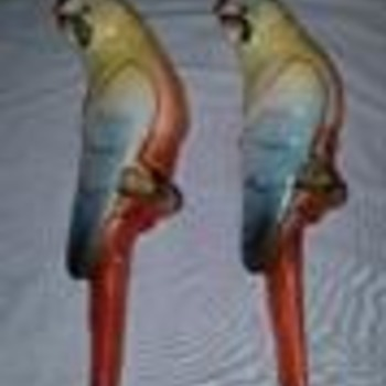 """PARROTS"" Handpainted to WATER YOUR PLANTS  (Hardly used)"