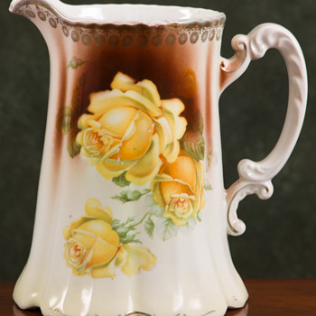 Signed German Porcelain Pitcher