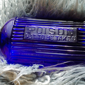 BRITISH POISON BOTTLE COBALT BLUE - Bottles