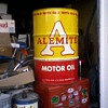 55 gallon Alemite (Stewart Warner) oil barrel