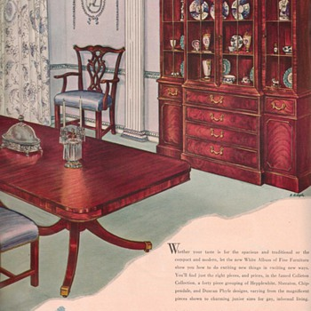 1950 White Furniture Advertisement - Advertising