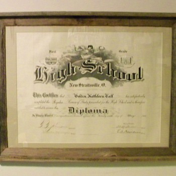 Goldie Cathleen Call High School Diploma - Paper
