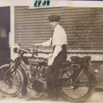 Photograph of an Indian Motorcycle c. 1908 - Photographs