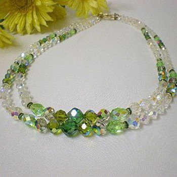 Vendome aurora borealis necklace - Costume Jewelry