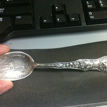 Sterling Silver Rice Instititute Spoon, Help - Sterling Silver