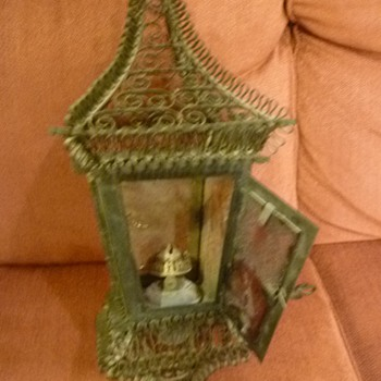 Age of this ruffled oil lamp lantern? - Lamps