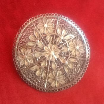 Filigree Flower Brooch - .925