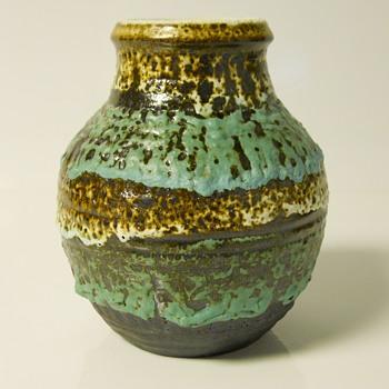 "Western Germany""Carstens Tönnieshof"" Fat Lava Vase,1960-70"
