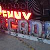 Vintage 1920's PENNY ARCADE Venice Pier / Boardwalk Neon Signs (2)