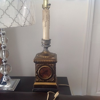 Candlestick Lamp with unknown initials