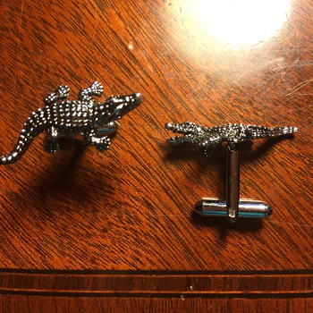 Modern Novelty Cufflinks from my Collection: Alligators, Ducks, and Penguins - Accessories