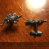 Modern Novelty Cufflinks from my Collection: Alligators, Ducks, and Penguins